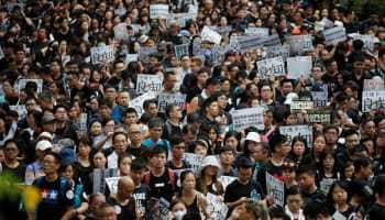 Thousands of teachers join anti-government protests in Hong Kong