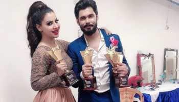 Sambhavna Seth, hubby Avinash Dwivedi elated after winning Bhojpuri Cinema Screen and Stage Awards—See pics