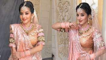 Monalisa dressed as a bride for her TV show makes peach legenga a must-have—Pics