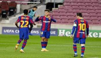 Barcelona thump Ferencvaros 5-1 to kick-off new UCL campaign in style
