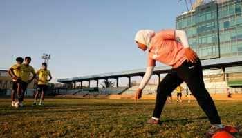 Soccer star Faiza Heidar becomes first woman to coach a men's pro team in Egypt