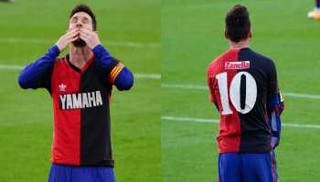 La Liga: Lionel Messi gives 'Newell's' tribute to Diego Maradona as Barcelona thrash Osasuna 4-0