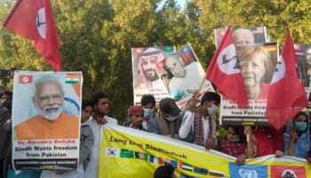 PM Narendra Modi's poster seen at pro-independence rally at Pakistan's Sindh