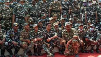 Adivi Sesh, on-screen Major Sandeep Unnikrishnan celebrates Republic Day with CRPF Jawans - In Pics