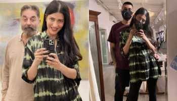 Shruti Haasan's pictures with dad Kamal Haasan and rumoured beau Santanu Hazarika break the internet!