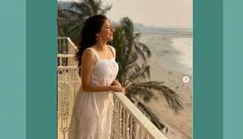 Bhagyashree looks summer-ready in this white cutwork dress, fans comment 'gorgeous'