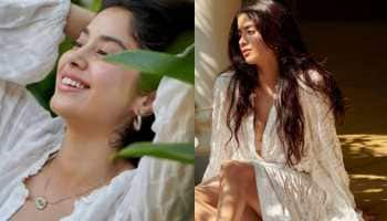 Janhvi Kapoor flaunts natural beauty in boho-chic look, poses in her lush green garden - See pics