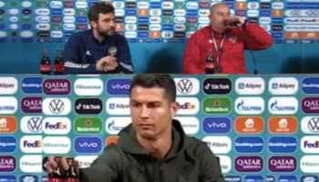 Euro 2020: Russia coach defies Cristiano Ronaldo Coca-Cola snub, watch video