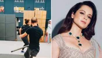 Kangana Ranaut shares glimpse of fight practice for 'Dhaakad'