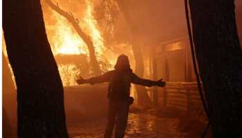 Greece battles wildfires as heatwave engulfs southeast Europe - in Pics!