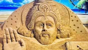 Vishwakarma Jayanti 2021: Sand artist Sudarsan Pattnaik unveils majestic artwork of Lord Vishwakarma!