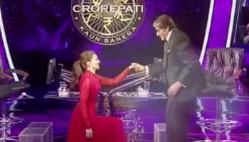 Kaun Banega Crorepati 13: Kriti Sanon goes down on one knee for Amitabh Bachchan