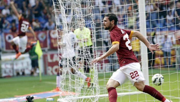 Mattia Destro Alessandro Florenzi Fire Roma Back To Top Spot Football News Zee News