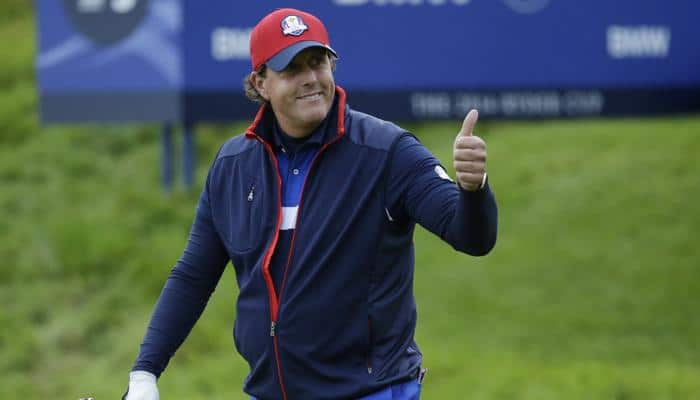 Phil Mickelson strikes first in Rory Ryder Cup rivalry