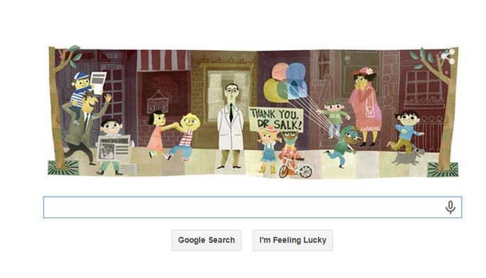 Jonas Salk's 100th Birthday: Google Doodle honours scientist who developed polio vaccine