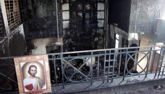 Christians protest church blaze in Delhi, police forms SIT