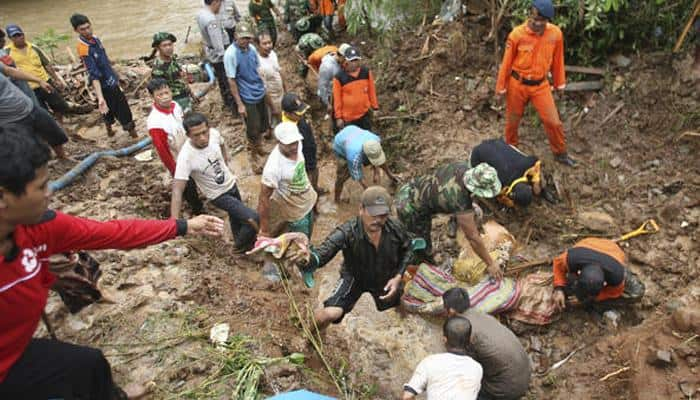 Indonesia landslides death toll rises to 19, scores still missing