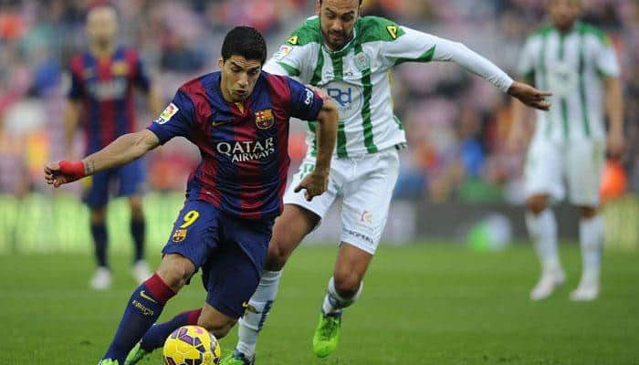 Luis Suarez opens Barcelona league account