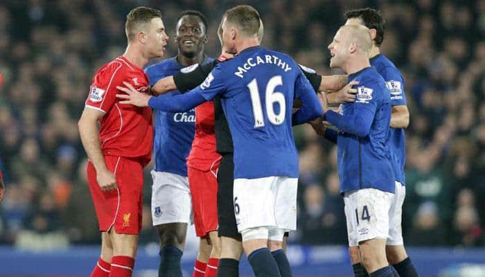 Everton deny Liverpool's Steven Gerrard victorious final derby