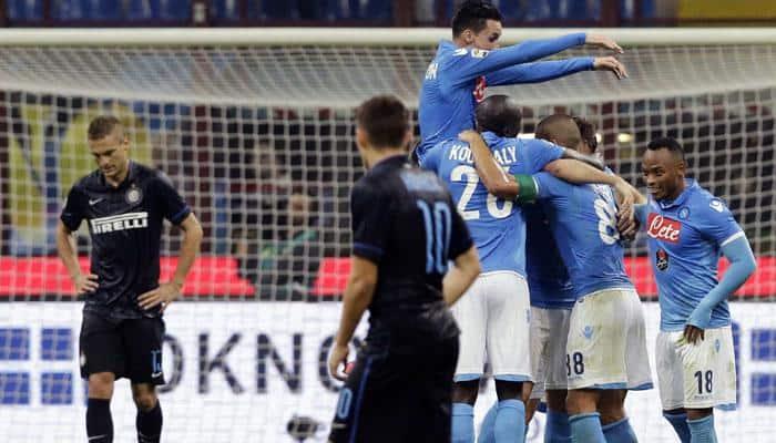 Inter Milan snatch draw as Napoli disintegrate