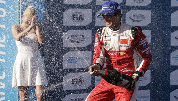 Nelson Piquet Jr follows father`s footsteps to Formula E win