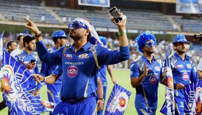 Mumbai Indians celebrate their second IPL triumph