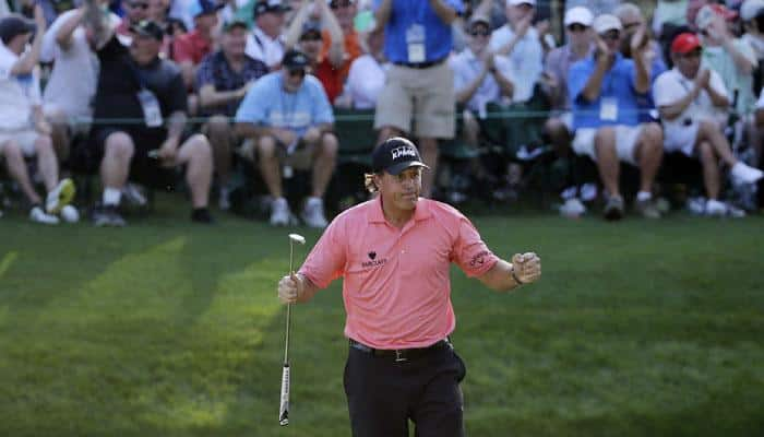 Phil Mickelson pours it on for Tom Watson