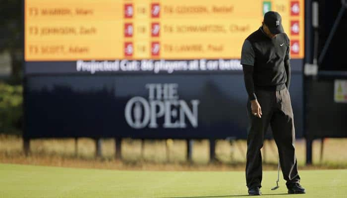 Woeful Tiger Woods misses cut at British Open