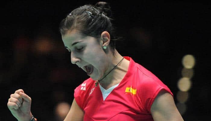 Top seed Carolina Marin suffers injury scare in Jakarta