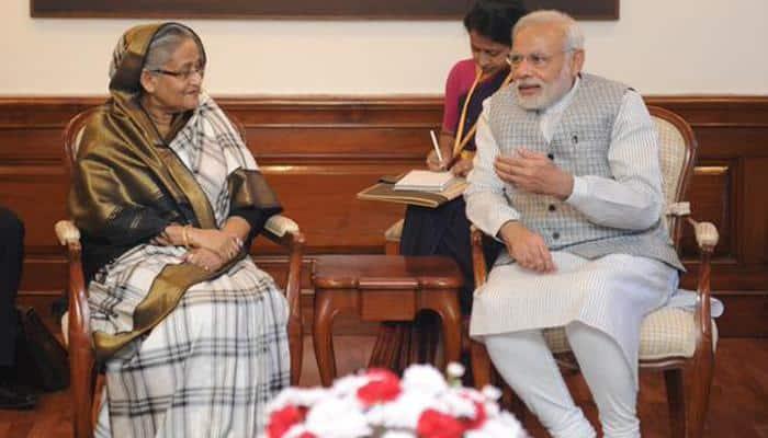 PM Narendra Modi meets Bangladeshi counterpart Sheikh Hasina, calls it 'good'