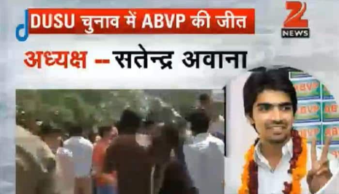 DUSU polls: ABVP wins all four seats; AAP's CYSS fails to open account