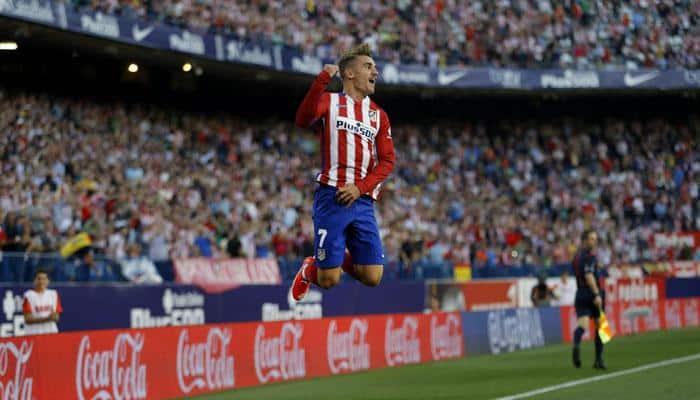 Antoine Griezmann double fires Atletico Madrid top of La Liga