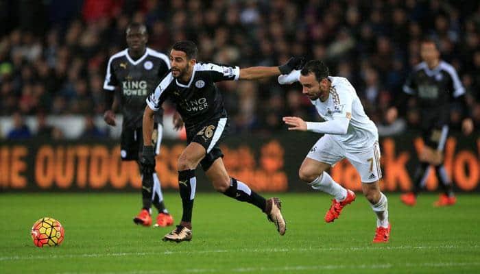 Riyad Mahrez fires Leicester top, Stoke submerge Manchester City