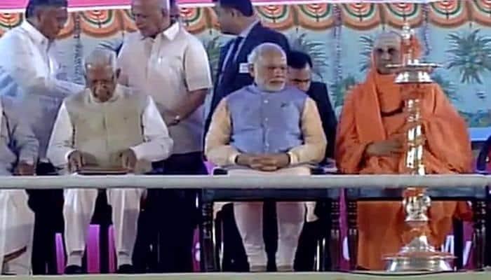 PM Narendra Modi reaches Mysuru on a 2-day visit of Karnataka
