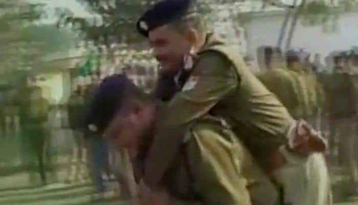 Bizarre fitness test: Uttarakhand police constable made to carry senior on his back – Watch Video