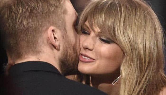 Calvin Harris congratulates 'beautiful girlfriend' Taylor Swift