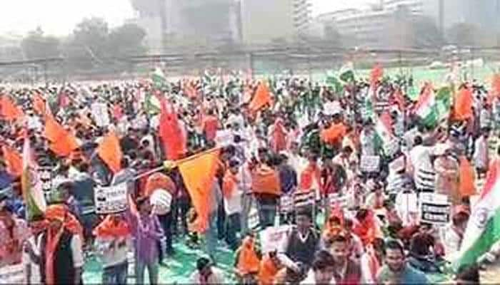 JNU row: ABVP stages protest march from Ramlila Maidan to Jantar Mantar against 'anti-national' slogans