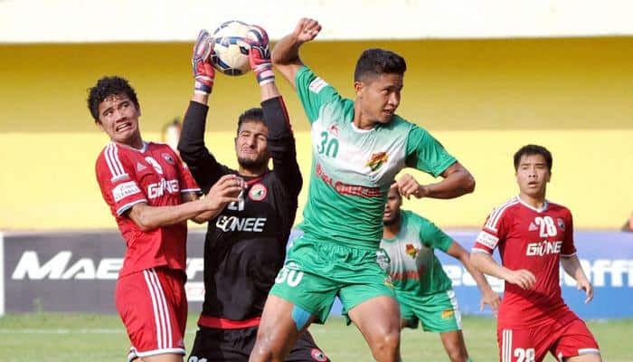 I-League 2015-16: Salgaocar FC beat Shillong Lajong FC with a solitary goal by Gilbert Oliveira
