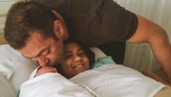 Awwdorable! Salman Khan visits Arpita Khan Sharma's baby boy Ahil for the first time – See pic