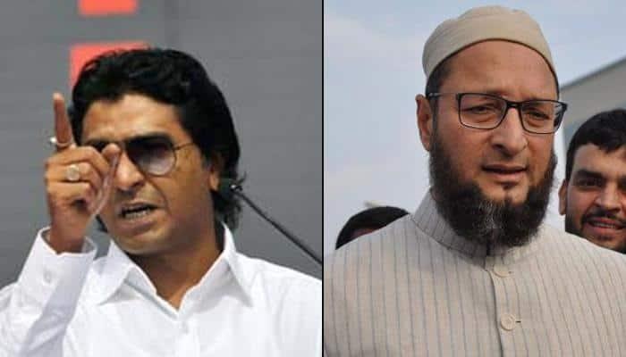 Raj Thackeray dares Asaduddin Owaisi: `Come to Maharashtra, I will put a knife to your throat`