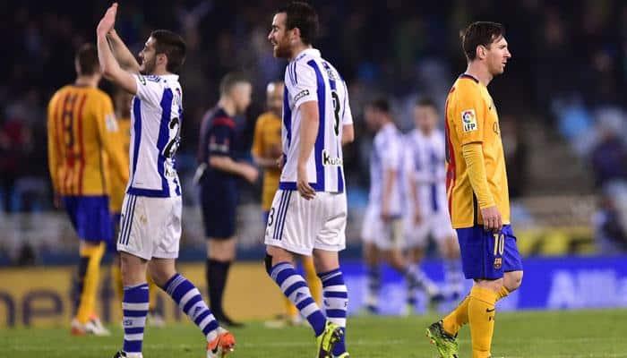 Barcelona beaten again at Sociedad, Atletico, Real apply pressure