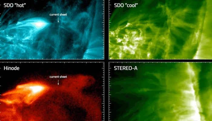 NASA missions decode intense solar flares from 2 spots in space!