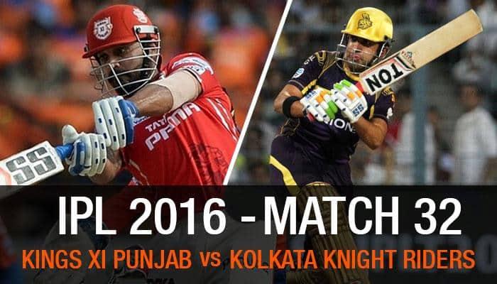 Indian Premier League 2016, Match 32: Kolkata Knight Riders vs Kings XI Punjab — As it happened...