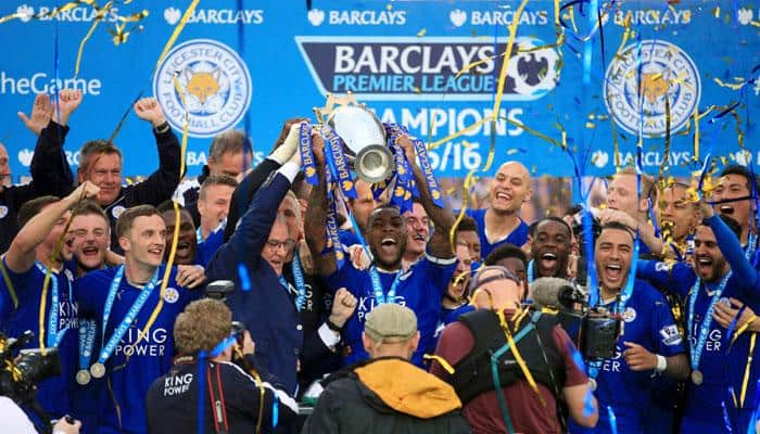 Jamie Vardy brace against Everton crowns Leicester's EPL title party at King Power Stadium