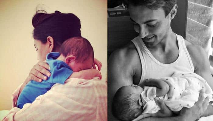 Awwdorable! These PICS of Arpita Khan Sharma and hubby Aayush with little Ahil will make your day