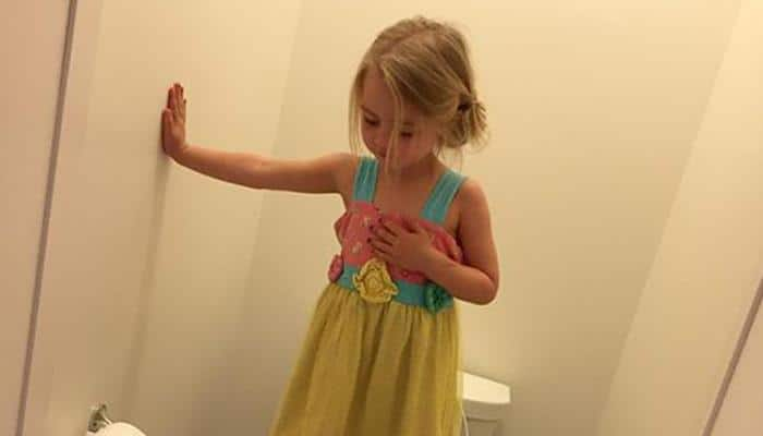 Viral Image: US mom breaks down to find her 3-year-old daughter standing on toilet seat - Read her Facebook post