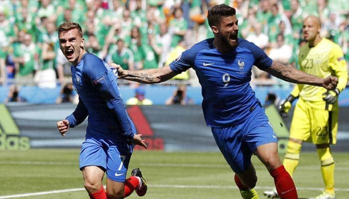 France beat Ireland 2-1 to reach Euro 2016 quarter-finals