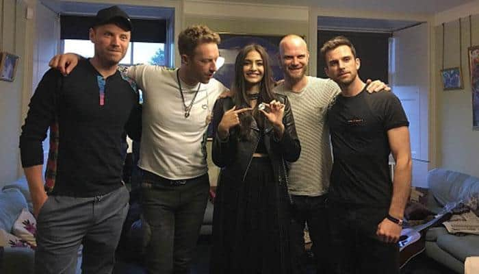 Sonam Kapoor freezes frame with Coldplay, thanks band for the EPIC night! - View pic