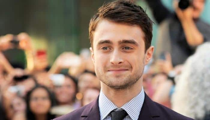 Daniel Radcliffe plays dead on red carpet for new film