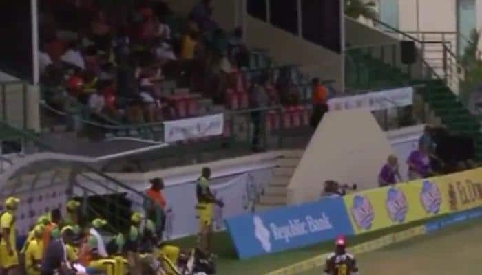 VIDEO: OUCH! When Andre Russell's six hit a security guard in CPL